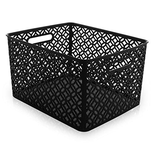 BINO Woven Plastic Storage Basket X-Large Black