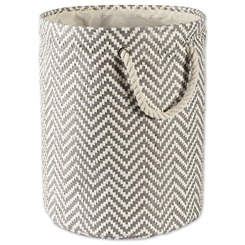 DII Storage Basket or Bin Collapsible Convenient Storage Solution for Office Bedroom Closet Toys Laundry Large Round - Gray Chevron
