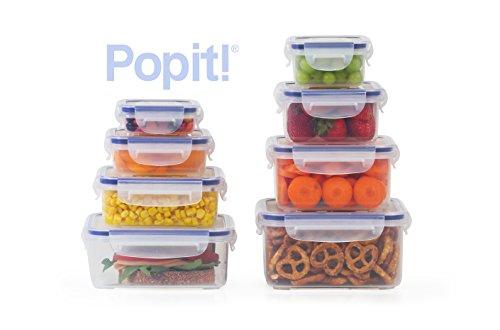 Popit Little Big Box Food Plastic Container Set 8 Pack