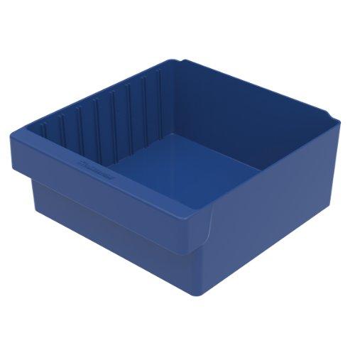 Akro-Mils 31112 11-58-Inch L by 11-18-Inch W by 4-58-Inch H AkroDrawer Plastic Storage Drawer Blue Case of 4