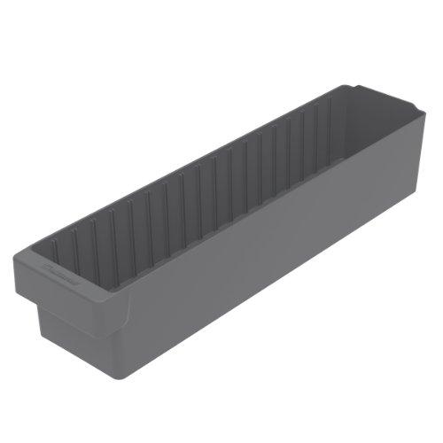 Akro-Mils 31164 23-78-Inch L by 5-916-Inch W by 4-58-Inch H AkroDrawer Plastic Storage Drawer Grey Case of 6
