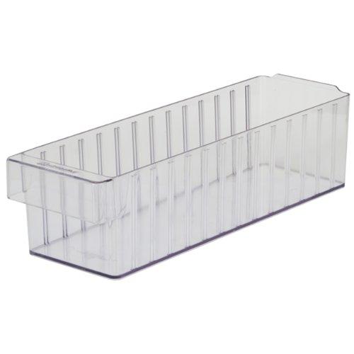 Akro-Mils 31168 AkroDrawer Plastic Storage Drawer 17-58 L x 5-916 W x 4-58 H Crystal Clear Case of 6