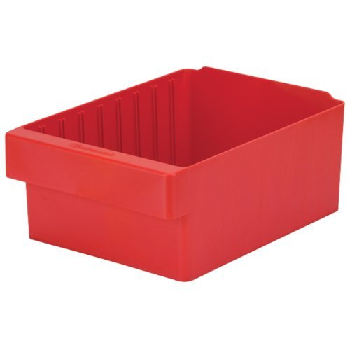 Akro-Mils 31188 AkroDrawer Plastic Storage Drawer 17-58 L x 8-38 W x 4-58 H Red Case of 4 by Akro-Mils