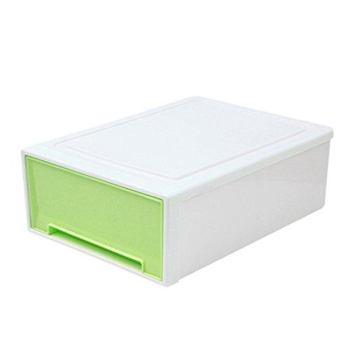 Storage Drawer Organizer Yamix Multifunctional Plastic Desktop Dresser Closet Drawer Organizer Stacking Drawer - Green