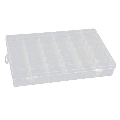 Duttek 36 Grid Plastic Adjustable Jewelry Organizer Box Storage Container Case