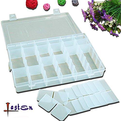 LastenStorage Box Jewelry Box Jewelry Boxes Jewelry Organizers 108x73x18Hard Plastic 36 Grids Jewelry Storage Box Storage Case with Removable Divider