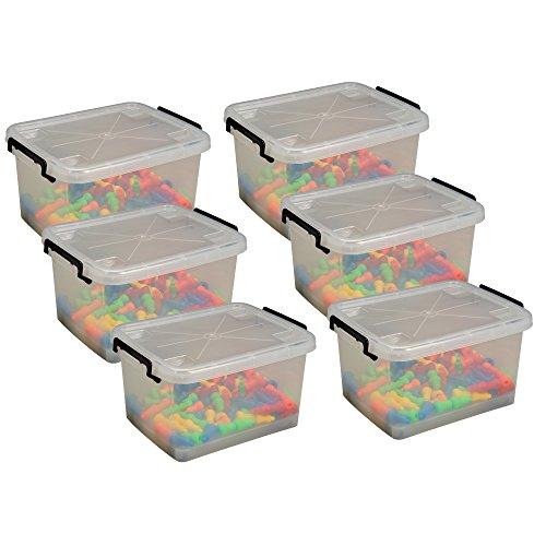 Lock Roll Storage Tubs Set of 6