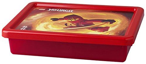 Lego 40921738 Lego Ninjago Small Storage Box Lego Ninjago Storage Box Transparent RedSmall