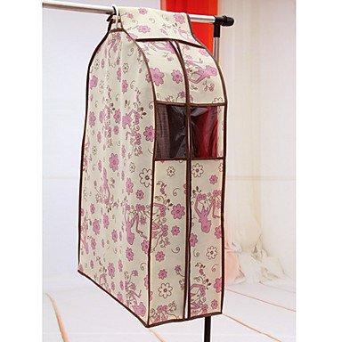 BuW Simple Style Pink Flower Suit Storage Bag Beige