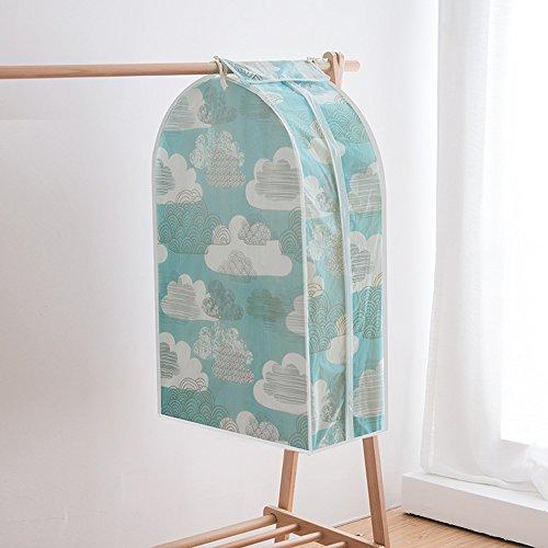PEVA 3D Printed Hanging Garment Bag by FREELOVE Clothes Cover Frameless Dustproof Storage BagDressSuitCoat 241235 Cloud