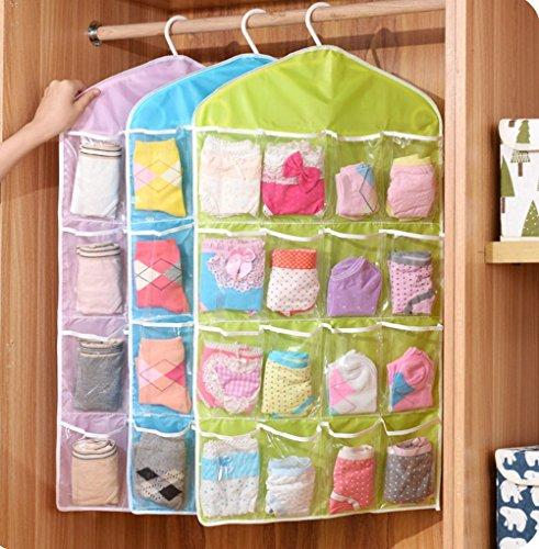 Cocobuy 16 Pocket Door Wall Closet Hanging Wardrobe Storage Bag Organizer Bath Toy Organizer