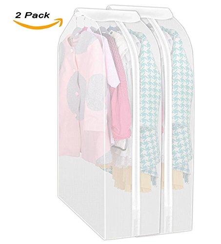 Garment Bag AOFUL Set of 2 Clothes Cover Bag Suit Bag Hanging Clothes Storage Bag Clothes Dust Cover 19 x23 x39