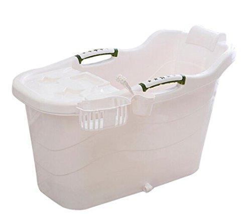 Large thickened covered bath tub adult children plastic tub bath tub baby shower Tub Home bathtub White