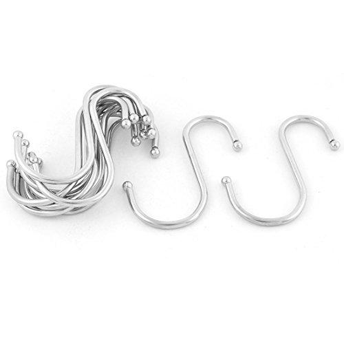 DealMux Wardrobe Bag S Shaped Hanging Hooks Hangers Holder 10pcs Silver Tone