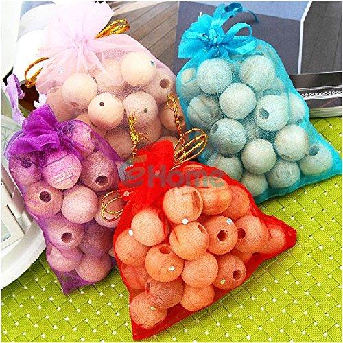 PyracinTM 60Pcs Cedar Moth Balls Wood Camphor Bug Repellent Wardrobes Cloth Drawers 3 Bag 57598