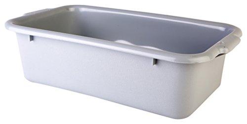 Consolidated Plastics 67005 Tote Box Polyethylene Gray 20 L x 12 W x 6 D