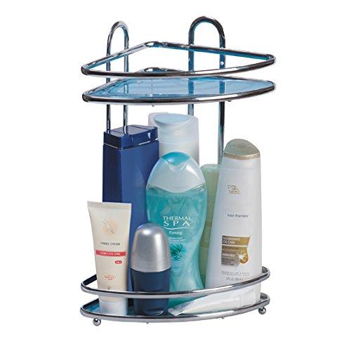 Tatkraft Kaiser Mini Double Bathroom Corner Rack 23X18X335 H Chrome Plated Steel