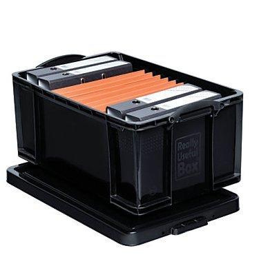 Really Useful Box plastic Recycled 27 34 x 17 x 12 Black Storage Box 64 Liter100