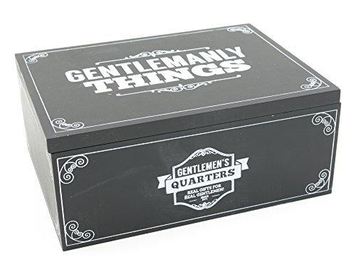 Retro Gentlemens Quarters Black Storage Box