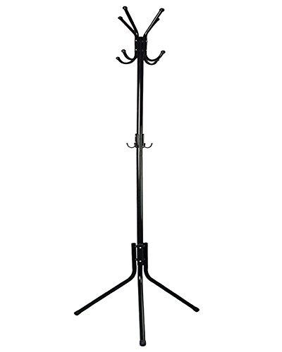 INDRESSME 68 Inches Metal Standing Coat Rack Hat Hanger Holder Hooks for Jacket Umbrella Tree Stand Rack12 Hooks