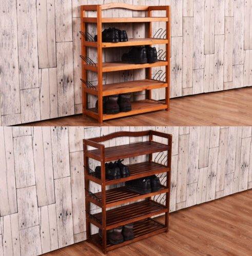 USA Premium Store 5-Tier Wooden Shoe Rack Shelf Storage Organizer Entryway 2 Color In Random