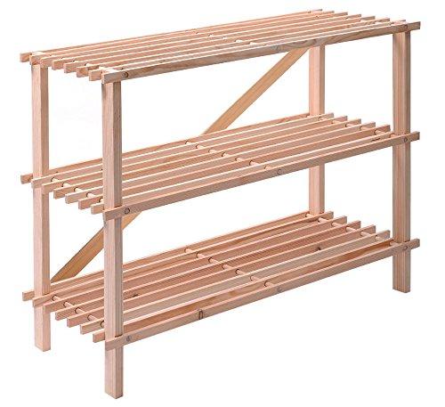 Wooden Shoe Rack Oragnizer Storage 3 Tier Shelf Standing Closet Household