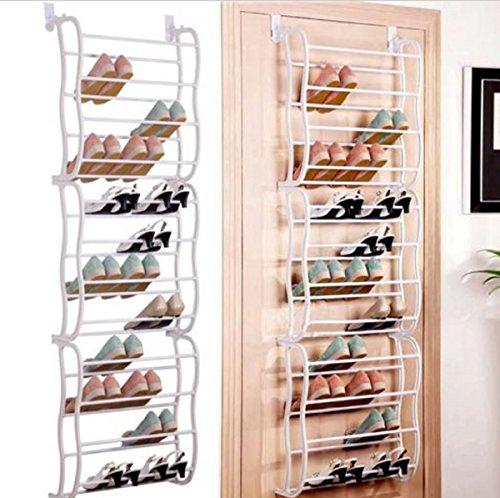 USA Premium Store Hanging Shoe Rack Over the door 36 Pair Closet Space Saver Organizer Storage