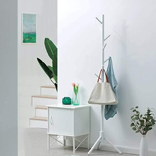 YYHSND White Coat Rack Wooden Hanger Floor Bedroom Hanger Children Hanger 45x175cm Coat Rack