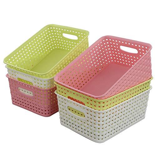 Fiaze Woven Plastic Storage Baskets 1003 x 755 x 409  Set of 6