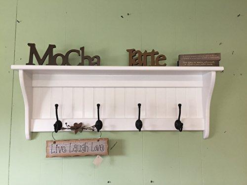 Wall Hanging Coat Rack 36 Wood Wall Shelf