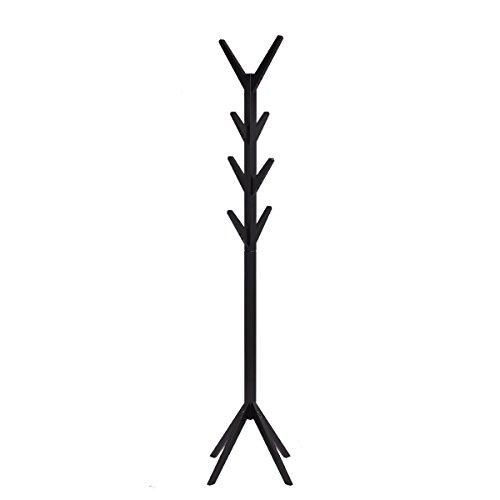 Tangkula Coat Rack Hall Entyway Tree Stand Hat Holder Black