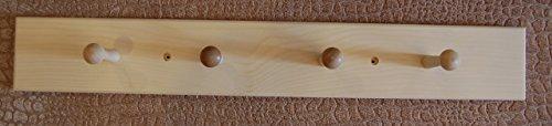 24 unfinished pine 4 shaker peg coat rack